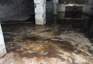 Sewage spill in basement